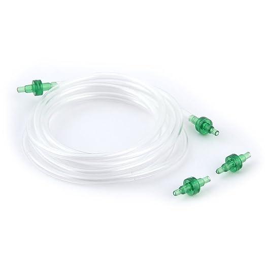 Amazon.com : eDealMax acuario oxígeno plástico Flexible Pipe 1.85M Largo w Bomba de aire de Salida de comprobación de válvulas : Pet Supplies