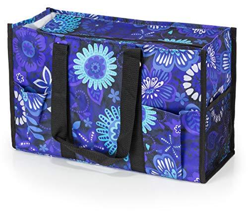 All Purpose Utility Tote Bag (Exotic Floral) (Zip Floral Top Tote)