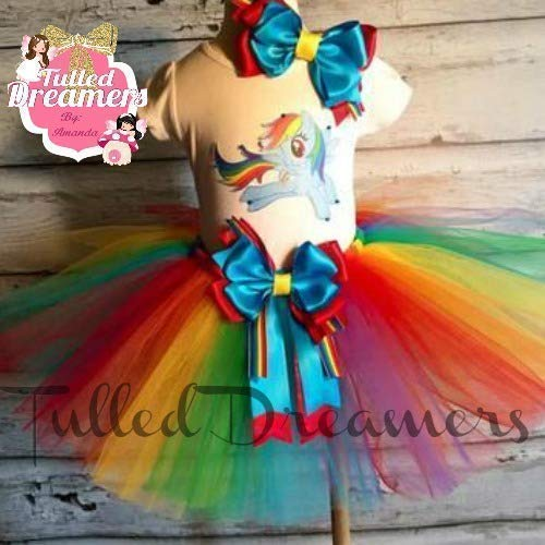b41ebaa3832e Image Unavailable. Image not available for. Color: Rainbow Dash My Little  Pony Birthday Tutu Outfit