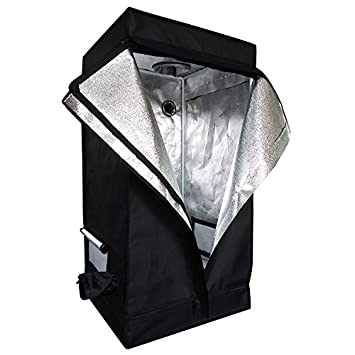 Oshion 2x2x4 Feet Small Indoor Mylar Hydroponics Grow Tent Room (24u0026quot;x ...  sc 1 st  Amazon.com & Amazon.com: Oshion 2x2x4 Feet Small Indoor Mylar Hydroponics Grow ...