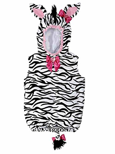Koala Kids Infant Girls Plush Black & White Striped Baby Zebra Costume (Zebra Costumes For Toddlers)