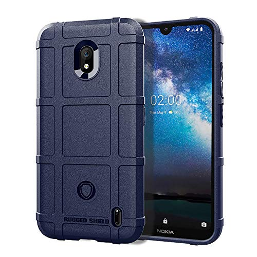 Case for Nokia 2.2 Rugged Shield Series Soft TPU Bumper Thick Solid Armor Tactical Best Protective Cover (Blue)