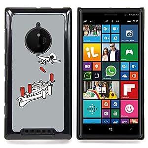 GIFT CHOICE / Teléfono Estuche protector Duro Cáscara Funda Cubierta Caso / Hard Case for Nokia Lumia 830 // Airplane Boat War Wwii Poster //