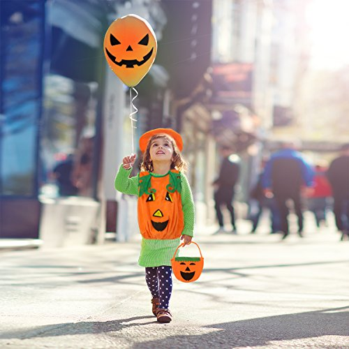 PAMASE Halloween Pumpkin Costume for Kids Cosplay Clothing with Hat and Candy (Kid N Play Costume Halloween)