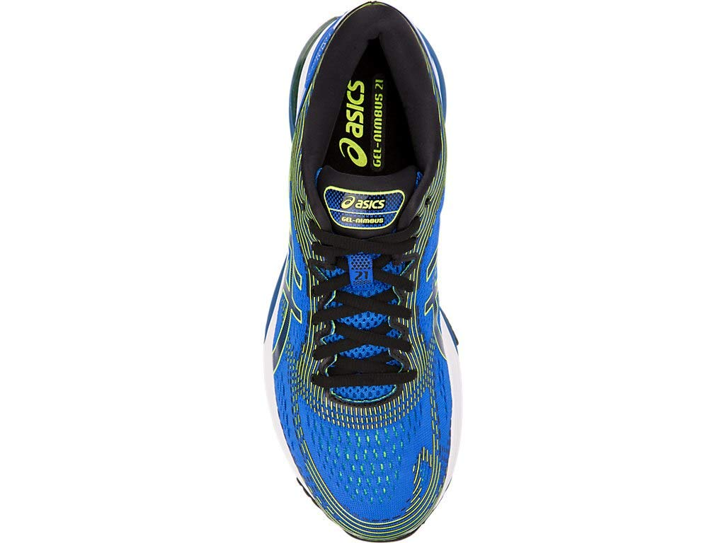ASICS Men's Gel-Nimbus 21 Running Shoes, 6.5M, Illusion Blue/Black by ASICS (Image #3)