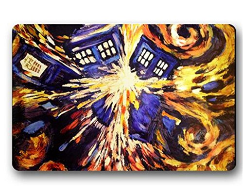 Outdoor Indoor Floor Mats Non-Slip Machine Washable Decor Bathroom Mats Doctor Who Tardis Print
