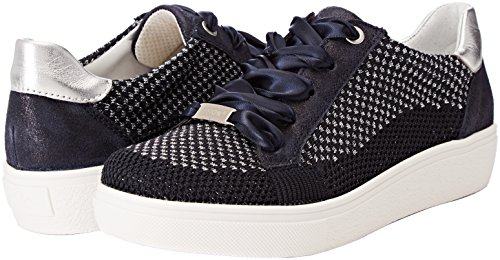 Silber Blau York Sneaker Ara 06 Donna Blu New EU nFY4qxwBq