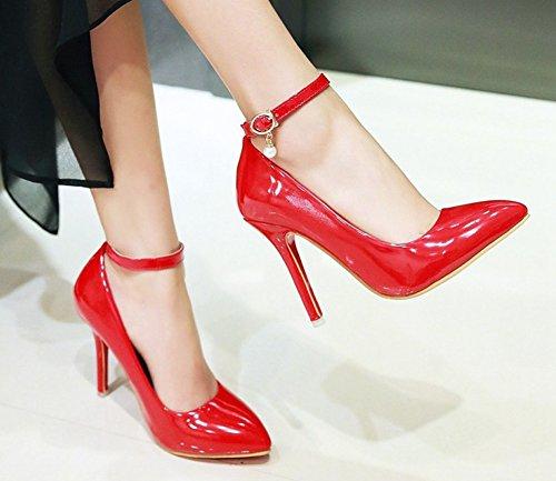 Talon Femme Aisun Rouge Haut Aiguille Basse Jolies Escarpins EHqdwq