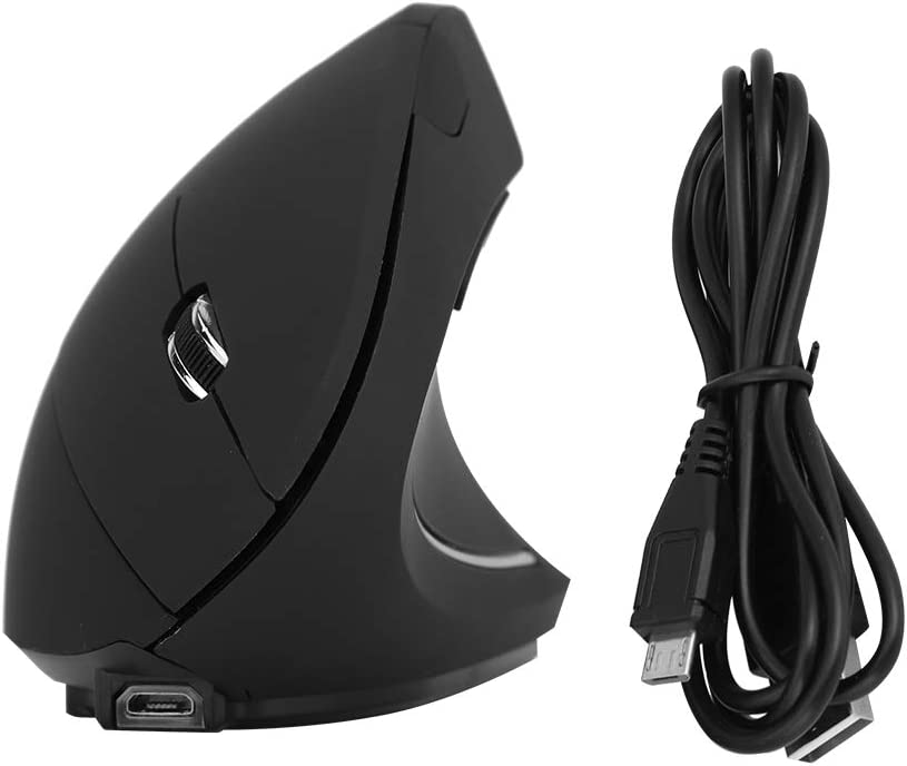 Vbest life Ratón Vertical, 2.4GHz Óptico 1600DPI Inalámbrico Ergonómico Vertical PC/Laptop Gaming Mouse Recargable