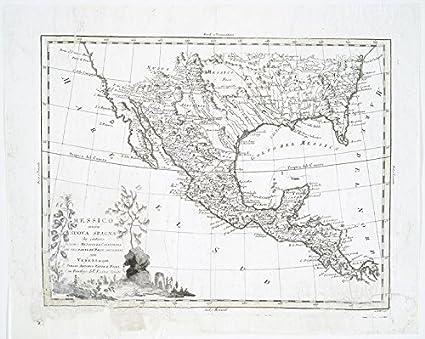 Amazon.com: Historic 1785 Map | Messico, ouvero Nuova-Spagna : che ...