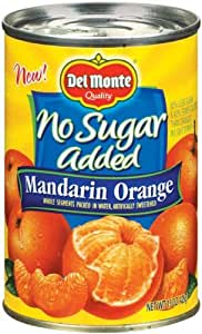 Del Monte Mandarin Orange No Sugar Added - 12 Pack