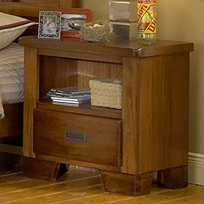 American Woodcrafters Heartland 1 Drawer Nightstand - Crafted of Select hardwood and veneers with recessed Gunmetal drawer pulls Features English dovetailing both front and Back with center guided wood drawer Glides. Veneered drawer bottoms provide snag free storage. - bedroom-furniture, nightstands, bedroom - 51fKgNgohTL. SS400  -
