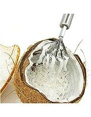 TOSSPER Rvs Kokos Scheerapparaat Fruit Vis Huidschaal Dunschiller Kokos Scheerapparaat Keuken Cutter Draagbare Leven Helper