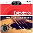 D'Addario EXP17 with NY Steel Coated Phosphor Acoustic Guitar Strings, Coated, Medium, 13-56