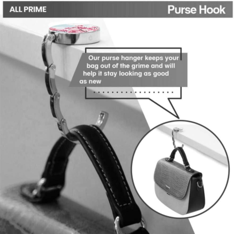 Trees Sunshine Blue Sky Table Hook Folding Bag Desk Hanger Foldable Holder