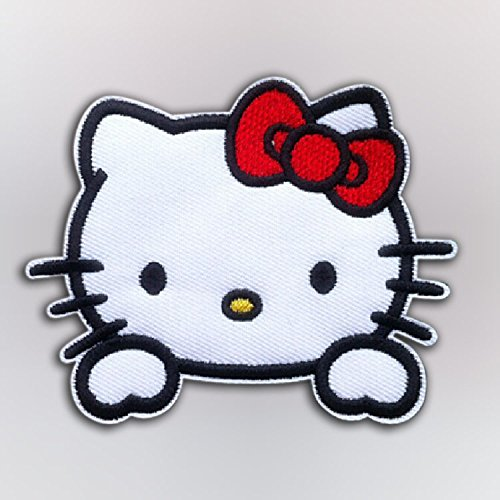 Sanrio Hello Kitty with red bow Iron On Patch - classic Head Cat Applique 2.5