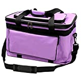 Extra Large Art Supplies Storage Bag Art Tools Box Artist Painting Canvas Bag(Purple)