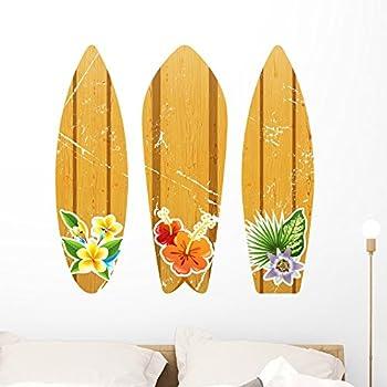 Amazon.com: Surfboards Aloha Design Set of 3 Wall Decal - 26\
