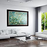 masterpieces Oversized Branches with Almond Blossom VAN Gogh premium Hand Embellished Canvas with Double Frame Oil Painting Wall Art, 46'' L x 36'' H