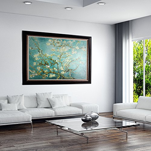 masterpieces Oversized Branches with Almond Blossom VAN Gogh premium Hand Embellished Canvas with Double Frame Oil Painting Wall Art, 46'' L x 36'' H by MasterPieces