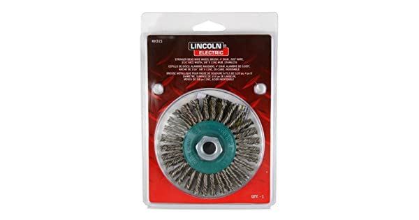 Lincoln Electric KH315 Stainless Steel Twisted Stringer Bead Brush 5//8 x 11 UNC Arbor The Lincoln Electric Company Pack of 1 Pack of 1 4 Diameter x 3//16 Face Width 5//8 x 11 UNC Arbor 4 Diameter x 3//16 Face Width 20000 rpm