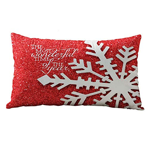 Sunhusing Rectangular Christmas Pillowcase Cotton Linter Cushion Covers