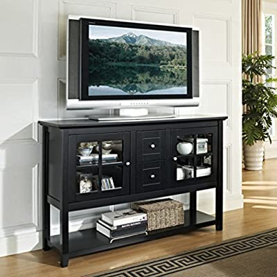 """WE Furniture 52"""" Wood Console Table Buffet TV Stand - Antique Grey"""