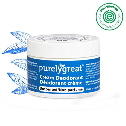 Womens All Natural Deodorant | Aluminum Free Deodorizer | Long Lasting Deodorant Cream | EWG Verified, Vegan, Cruelty-Free, No Aluminum, No Parabens, BPA Free | Essential Oils (Unscented)