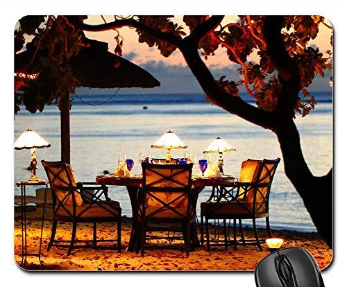 Dinner Cityscape - Mouse Pads - Travel Human Coast Beach Eat Dinner Sunset