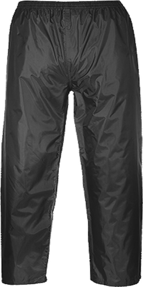 Portwest US441BKRM Regular Fit Classic Adult Rain Pants, Medium, Black