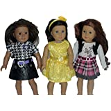 Set of 3 - 18 Inch Doll Dress Set - Summer Outfits 18 Inch Doll Clothes for American Girl Or Other 18 Inch Dolls with Dresses