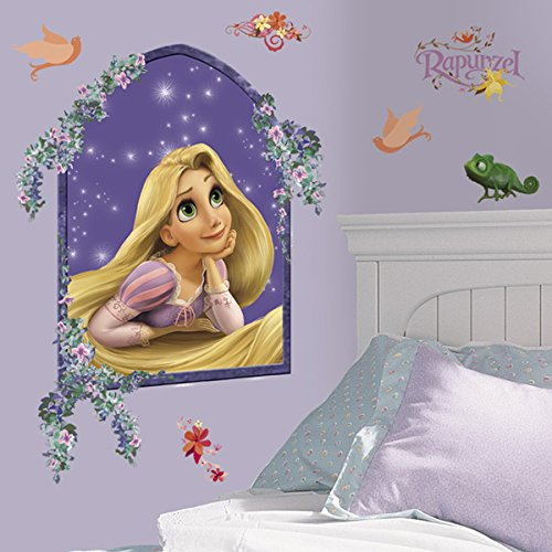 RoomMates Princess Rapunzel Peel and Stick Giant Wall Decals ()