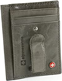 Mens Money Clip Genuine Leather Minimalist Slim Front Pocket Wallet