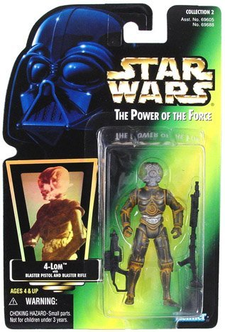 Star Wars, The Power of the Force Green Card, 4-Lom Action Figure, 3.75 Inches 4 Lom Action Figure