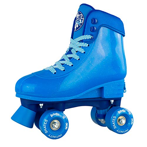 Infinity Skates Soda Pop Adjustable Roller Skates for Girls and Boys | Blue Medium