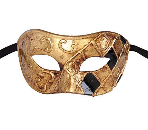 Luxury Mask Men's Vintage Design Masquerade Mask Prom Mardi Gras Venetain -