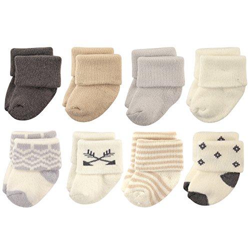 Hudson Baby Basic Socks, 8 Pack, Aztec, 6-12 Months