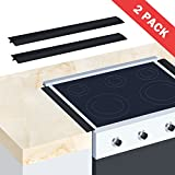covers for appliances - Wimaha 21 inch Stove Counter Gap Cover Long Wide Silicone Gap Filler Covers for Kitchen Between Counters, Stovetops, Appliances, Black, Pack of 2