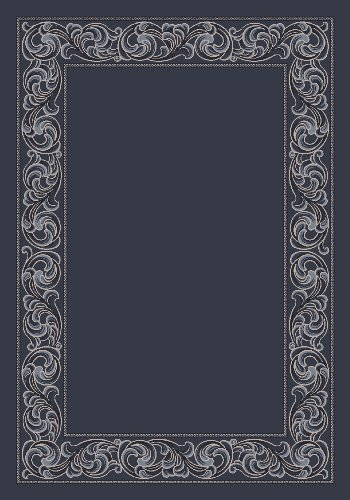 Modern Times Sonata Charcoal Rug Rug Size: 5