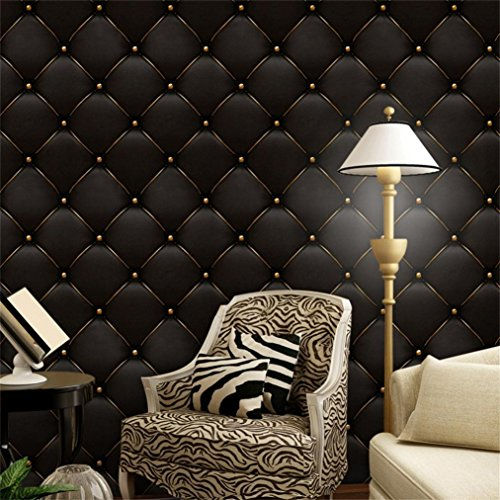 Cheap  PrettyW Vintage Grid Wall Mural 3D Wallpaper for Bedroom Living Room Wall..