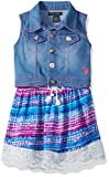 U.S. Polo Assn. Girls' Dress with Sweater Or Jacket, Coral-6845