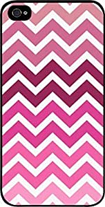 Pink Toned Chevrons- For SamSung Note 4 Phone Case Cover Universal-Hard Black Plastic