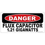 Danger Flux Capacitor 1.21 GIGAWATTS 2 Pack Stickers LAMINATED #FS373 Vinyl Decal Car Truck Bumper Windshield Funny