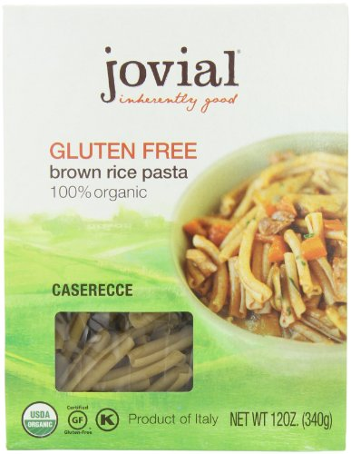 Jovial Organic Brown Rice Caserecce, 12-Ounce Packages (Pack of 6) by Jovial