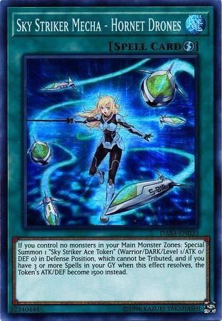 Yu-Gi-Oh! - Sky Striker Mecha - Hornet Drones - DASA-EN033 - Super Rare - Unlimited - Dark Saviors