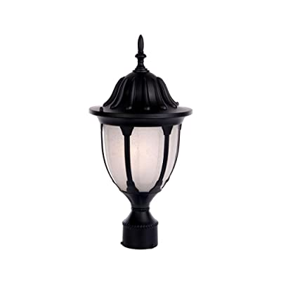 Acclaim 5067BK/FR Suffolk Collection 1-Light Post Mount Outdoor Light Fixture, Matte Black : Outdoor Post Lights : Garden & Outdoor