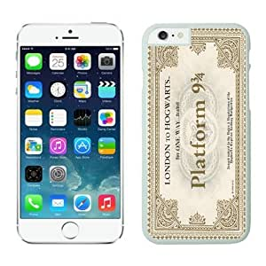 Iphone 6 Plus Case 5.5 Inches, Graceful Hogwarts Express Train Ticket White Hard Phone Cover Case for Apple Iphone 6 Plus