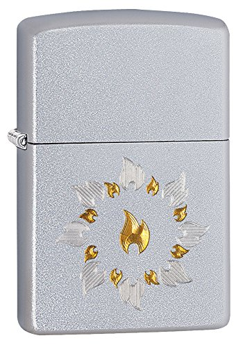 Zippo Ring of Fire Pocket Lighter, Satin Chrome Zippo Chrome Ring