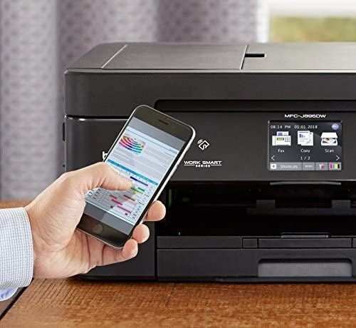 Brother Wireless All-In-One Inkjet Printer, MFC-J895DW, Multi-Function Color Printer, Duplex Printing, NFC One Touch to Connect Mobile Printing, Amazon Dash Replenishment Enabled 51fKkvZITtL