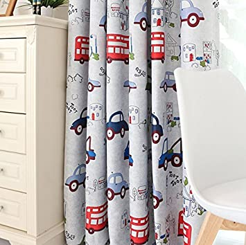 Charming FADFAY Home Textile,Cute Cartoon Kids Curtains,Designer Cartoon Cars Print  Kids Curtain For